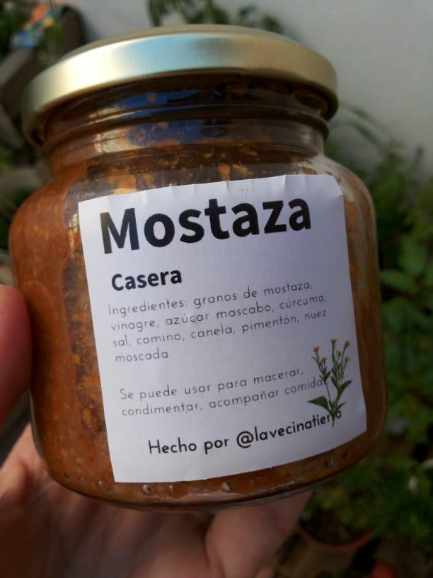 Mostaza casera «La Vecina Tierra» – 250 gr.