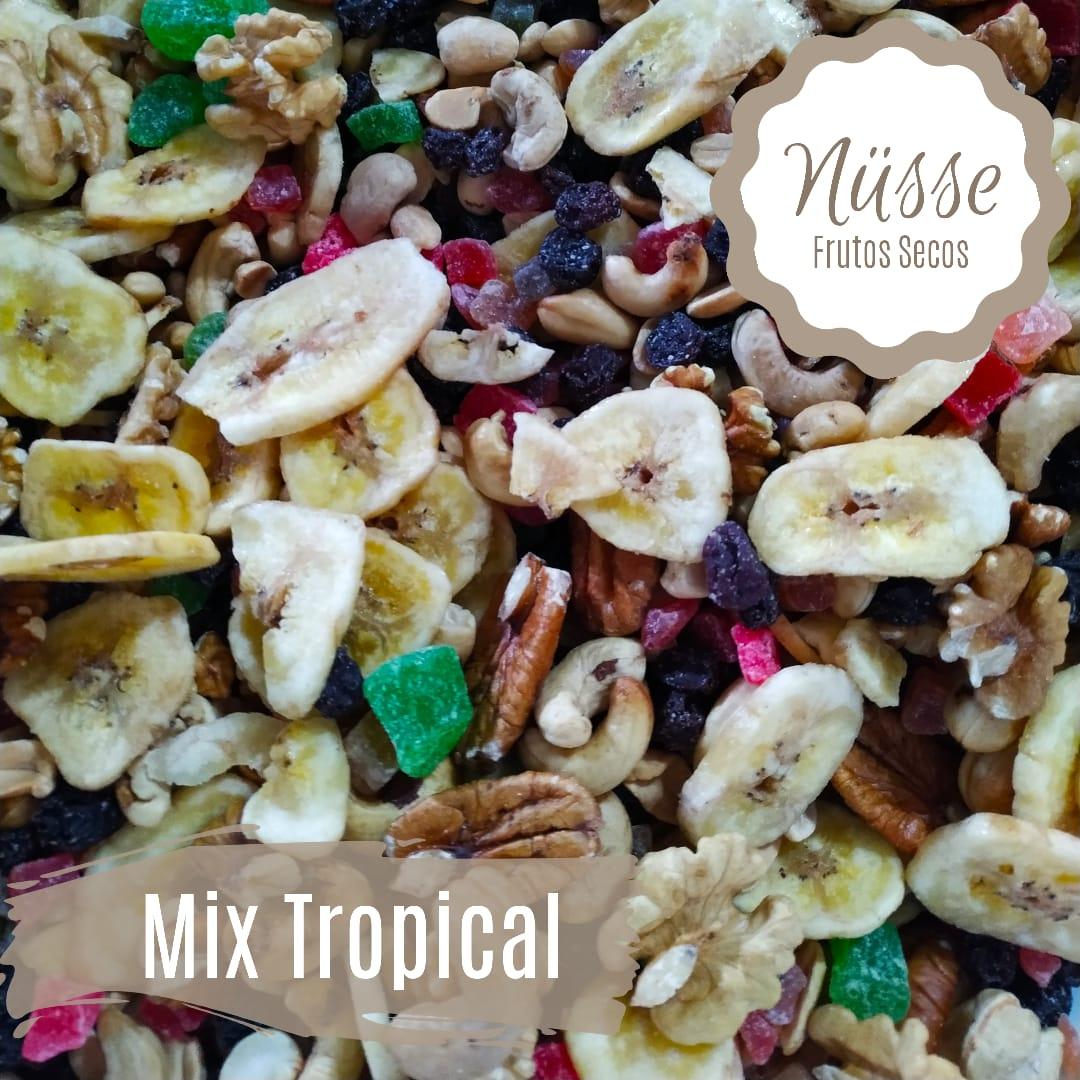 Mix Frutos Secos tropical «NUSSE» – 250gr (castana nuez pasas banana anana papaya)