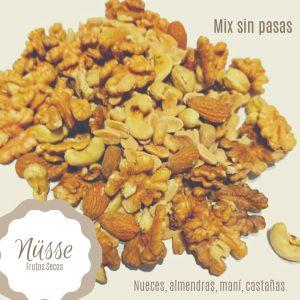 Mix Frutos Secos «NUSSE» (almendras, nuez, castaña de caju, mani) – 250 gr