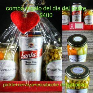 Combo 1 Pickles, escabeche garbanzos, lata santa fe 500cc «Delicias del Litoral»