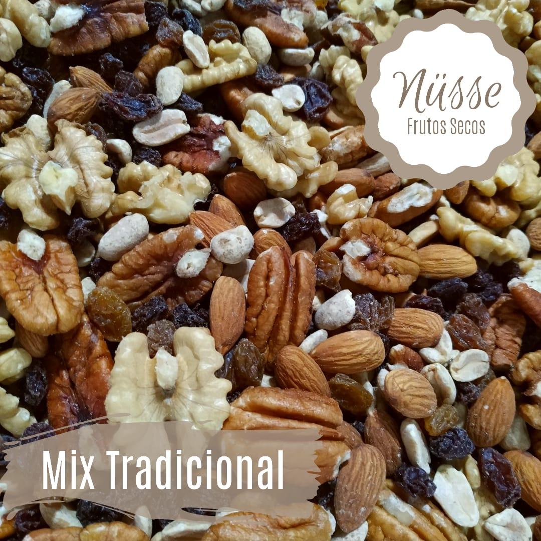 Mix Frutos Secos tradicional «NUSSE» – 250 gr (Nuez almendra mani pasas de uva)