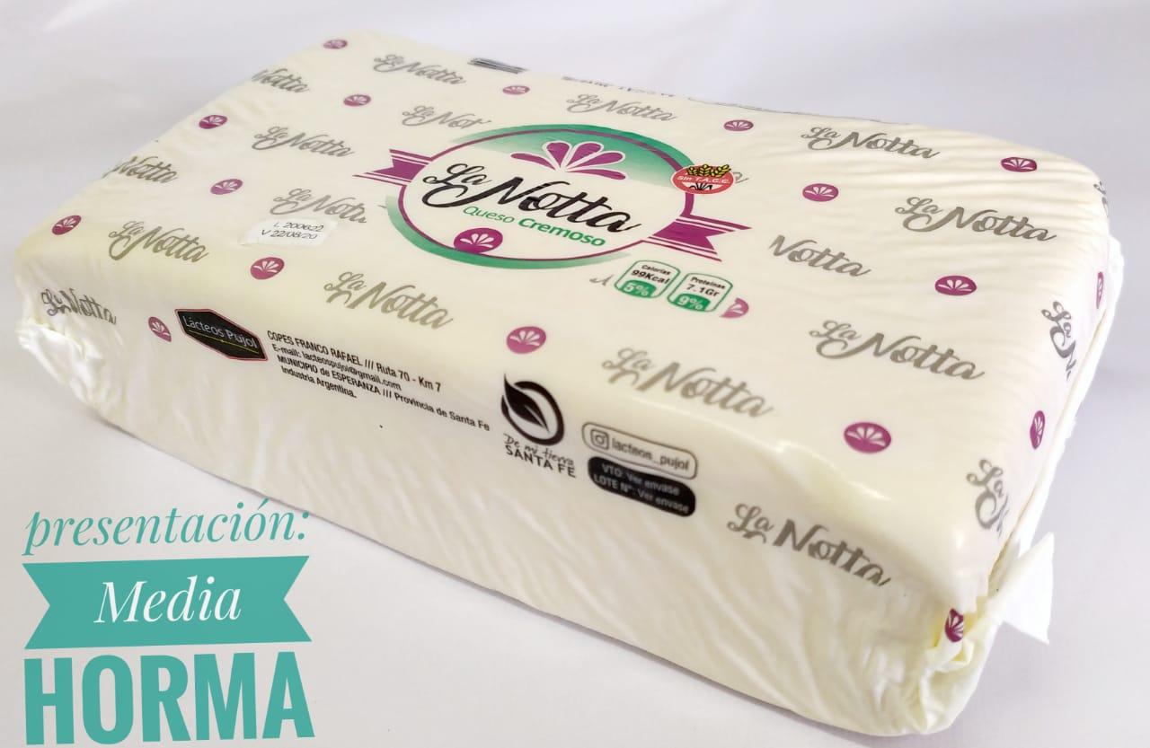 Queso Cremoso 1/2 Horma «La Notta» – 2.4kg aprox