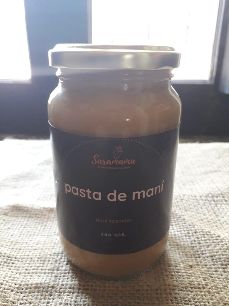 Pasta de maní con cacao, miel, y azucar de mascabo «Saramama» x 360 CC