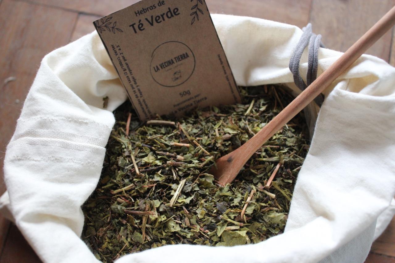 Té Verde en hebras 100 gr. (envase economico) – «La Vecina Tierra»