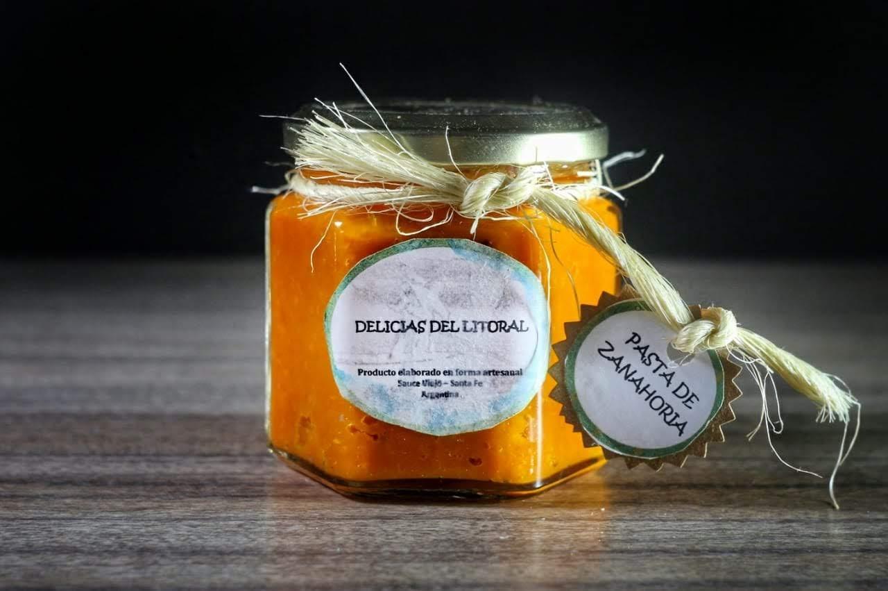 Pasta de zanahoria «Delicias del Litoral»