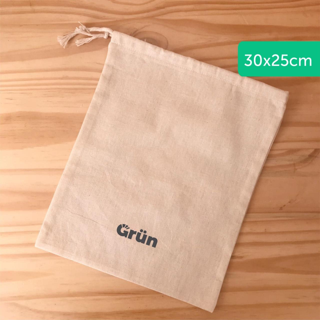 Bolsa de lienzo para compras a granel 25 x 30 cm «Grün»