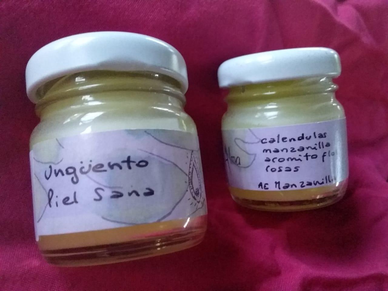 Ungüento piel sana. Aceite con plantas medicinales, cera de abeja y aceites esenciales «Medicina para el alma»