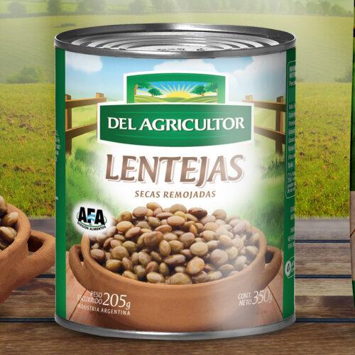 Lentejas enlatadas – 350g – «Del agricultor»