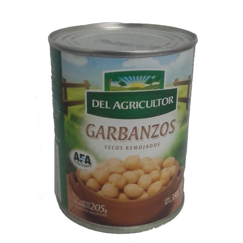 Garbanzos enlatados – 350g – «Del agricultor»