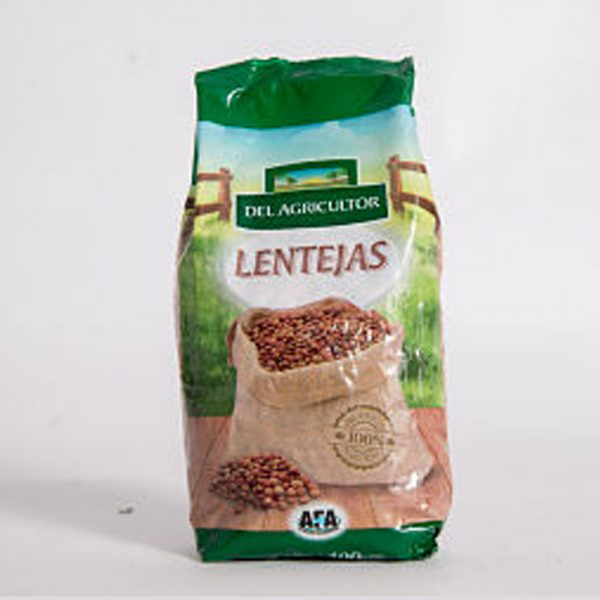 Lentejas secas envasadas «Del Agricultor» – 400gr